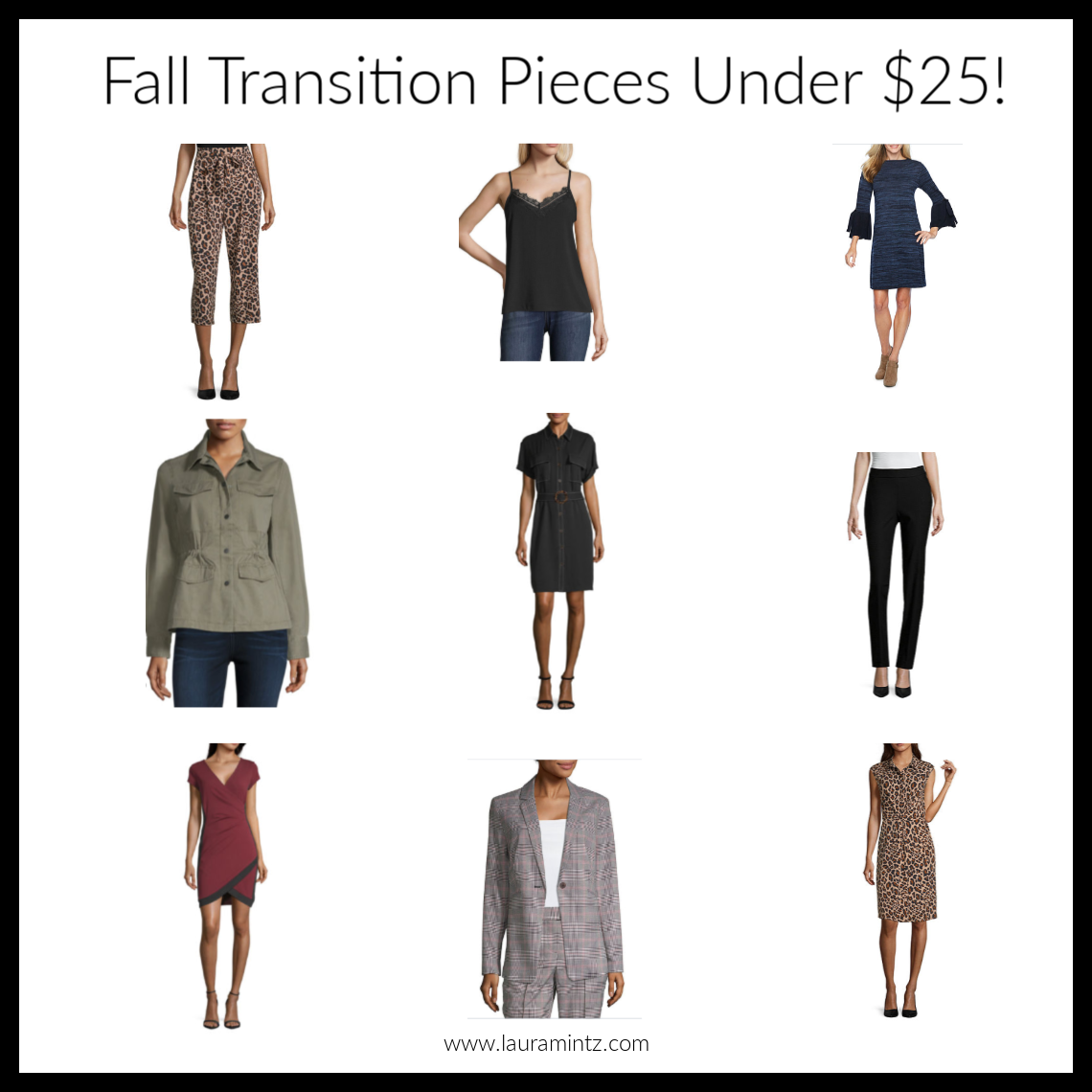 Fall Transitional Pieces Under $25