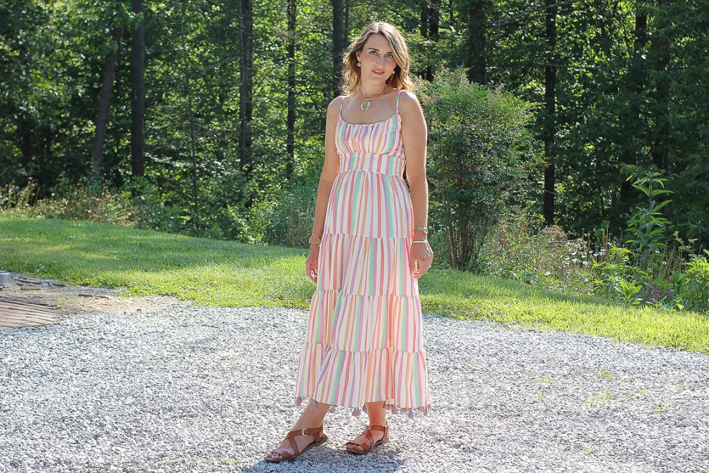 Pastel Chicwish Dress: Candy Cane Stripes and Tassles