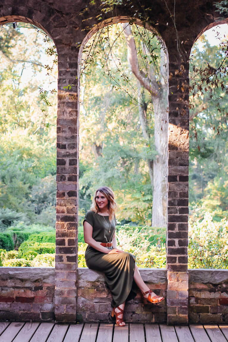 Olive Green Knit Dress