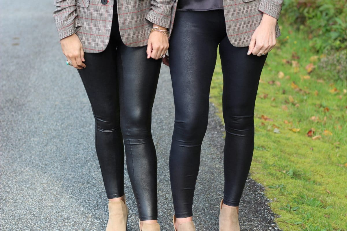 Spanx Faux Leather Legging Dupe