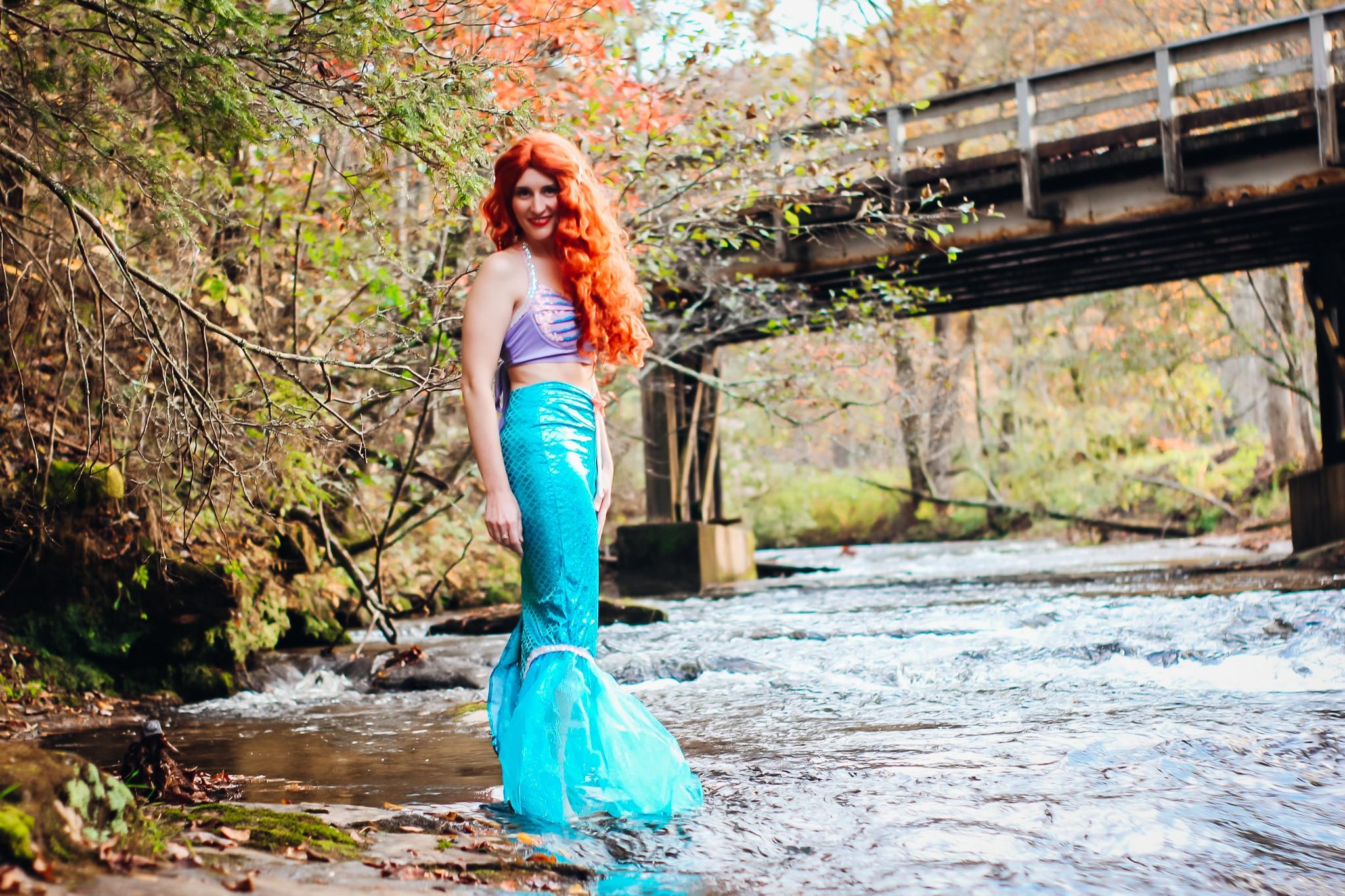 Little Mermaid Halloween Costume, Standing