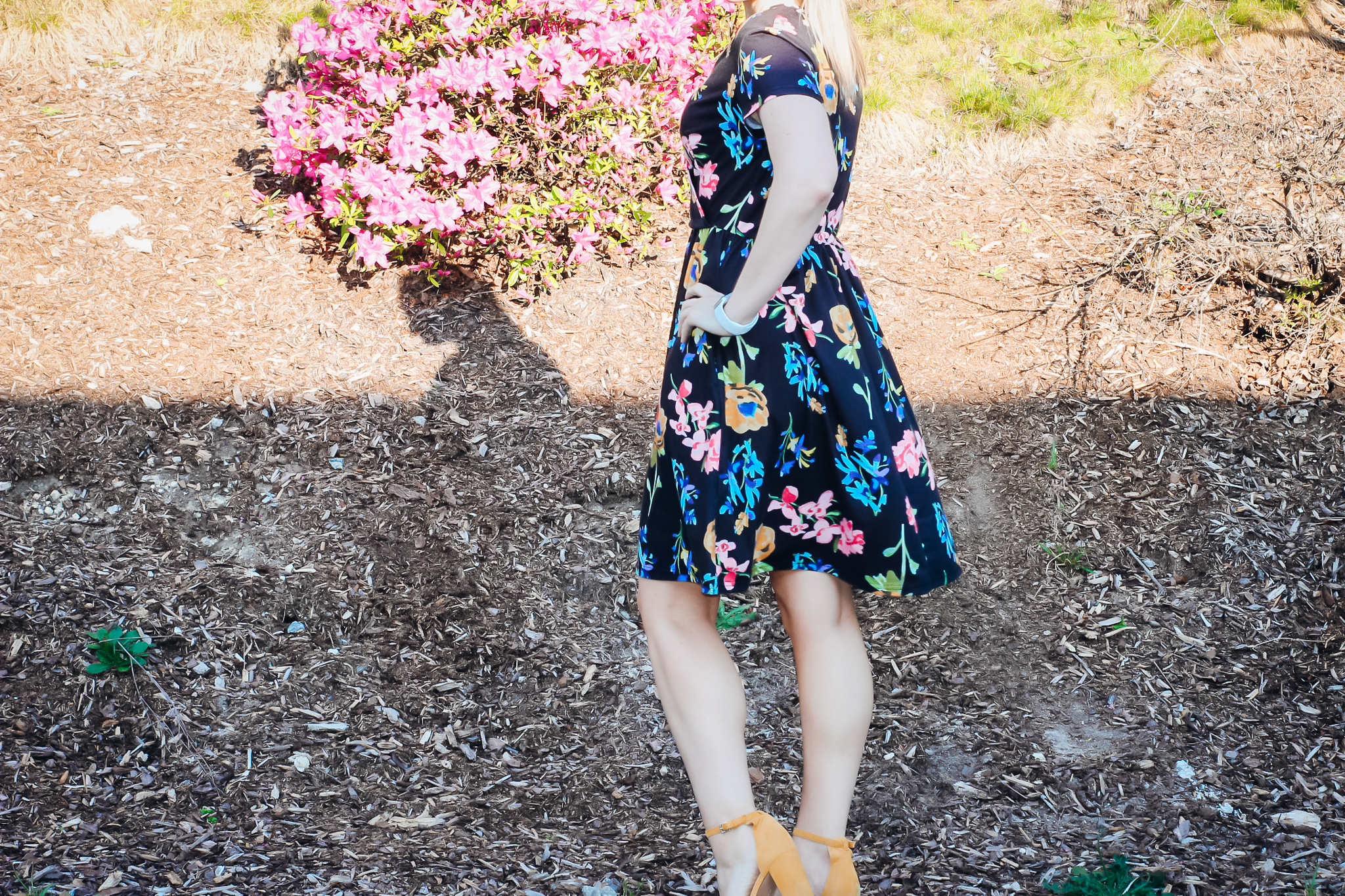 Cute Spring Dresses-Amazon Faux Wrap Knit Dress